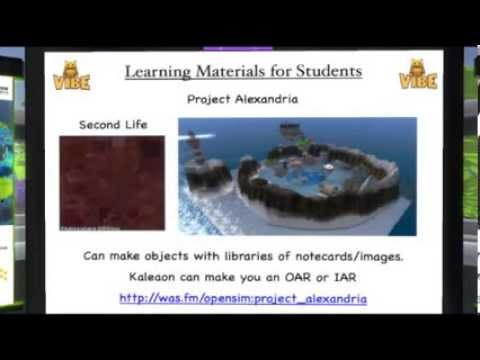OSCC13 – The Fantastic Voyage of Converting to OpenSim for Biology and Archaeology Education