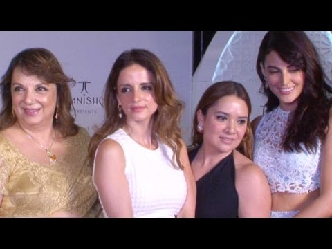 Sussanne And Other Bollywood Celebs At Farah Khan