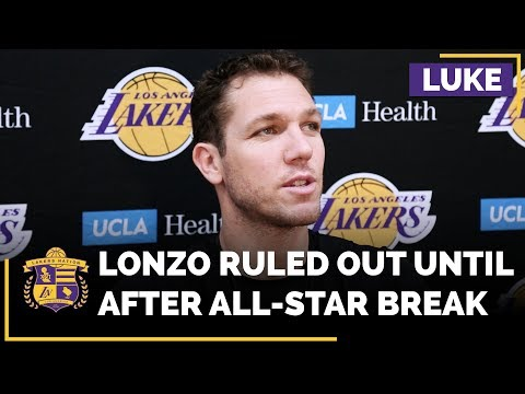 Video: Lakers Head Coach Luke Walton Rules Out Lonzo Ball Until After All-Star Game