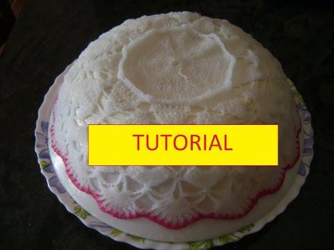 tutorial per inamidare i lavori all'uncinetto con acqua e zucchero
