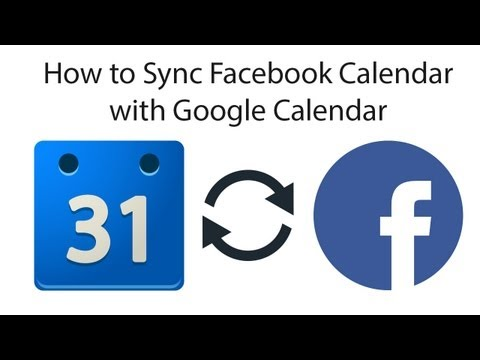 how to sync fb events with google calendar