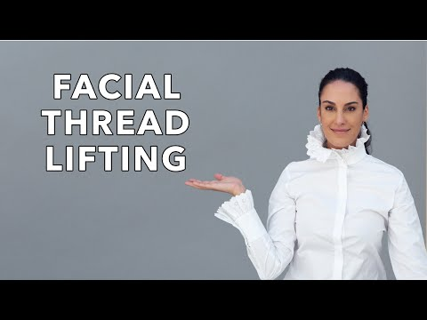 Facial thread lifting by Dr. Sheila Nazarian, Beverly Hills, Los Angeles