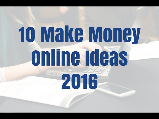 10 make money on the internet concepts