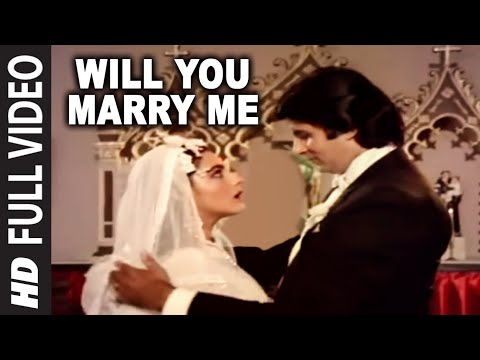 Video Will You Marry Me Full Song | Mard | Amitabh Bachchan, Amrita Singh download in MP3, 3GP, MP4, WEBM, AVI, FLV January 2017