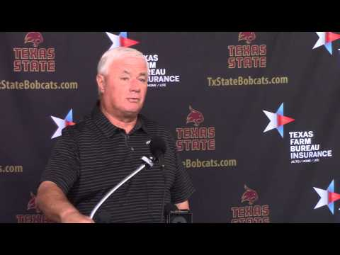 Texas State Head Football Coach Dennis Franchione 09/30/2014