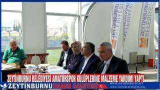 Zeytinburnu Belediyesinden Amatörlere Malzeme Yardımı 2014