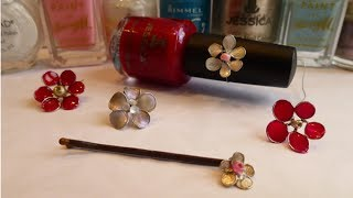 DIY Wire Nail Polish Flowers - YouTube