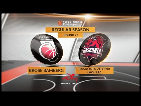 EuroLeague Highlights RS Round 27: Brose Bamberg 71-96 Baskonia Vitoria Gasteiz