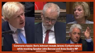 Video Boris Johnson picks up mic, MP Soubry interrupts, then BoJo mocks Bercow and reveals Corbyn's salary MP3, 3GP, MP4, WEBM, AVI, FLV September 2019