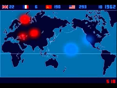 explosion - Japanese artist Isao Hashimoto has created a beautiful, undeniably scary time-lapse map of the 2053 nuclear explosions which have taken place between 1945 an...