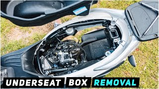 5. 2013+ Piaggio Fly - REAR END REMOVAL #2: Underseat Storage Box