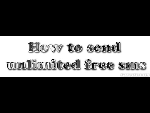 How to send a unlimited free sms in mobile[ Bangla]