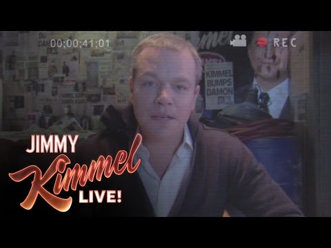 Matt Damon kidnaps Jimmy Kimmel