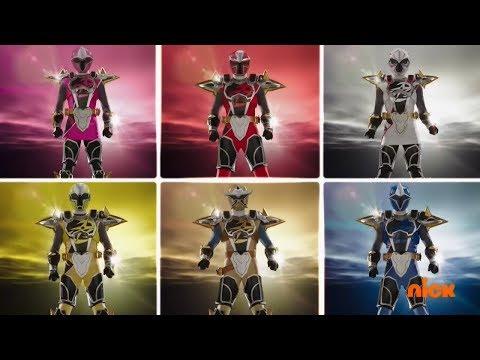 Power Rangers Official | Super Ninja Steel - All Ranger Morphs