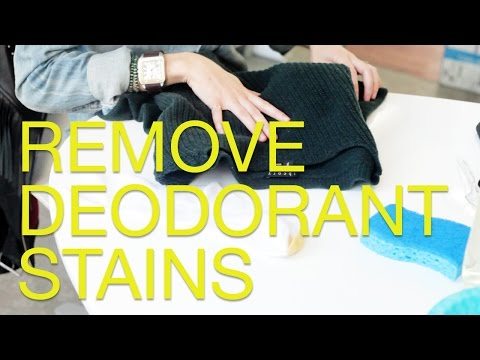 How To Remove Deodorant Stains From Black Clothing (Sweaters, Leather etc)