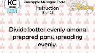KC Pineapple Meringue Torte YouTube video