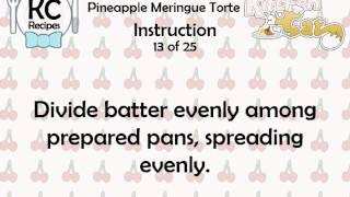 KC Pineapple Meringue Torte YouTube video