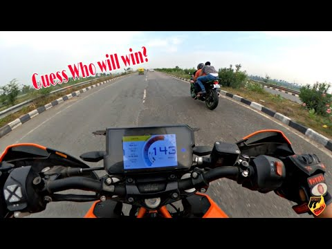 I Easily Chased NINJA300 on DUKE390 with Pillion | DUKE 390 vs NINJA 300 | Highway Battle