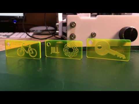 EleksMill Desktop CNC How To Make A Keyring