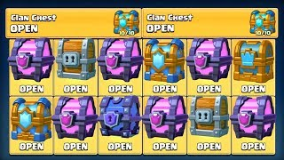 Video OPENING 6X FREE MAGICAL CHEST & SUPER MAGICAL! | Clash Royale | MAX CLAN CHEST LEGENDARY HUNT! MP3, 3GP, MP4, WEBM, AVI, FLV Agustus 2017