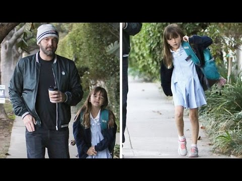 Seraphina Affleck Enjoys A Morning Walk With Daddy Ben Affleck