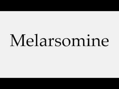 How to Pronounce Melarsomine