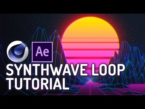 Synthwave Loop Tutorial - Cinema 4D & After Effects.