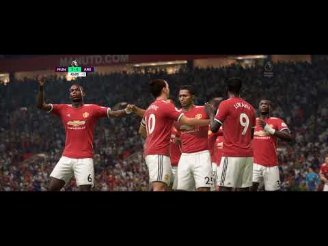 FIFA 18 PC Ultrawide [21:9] HD Gameplay - Manchester United Vs Arsenal