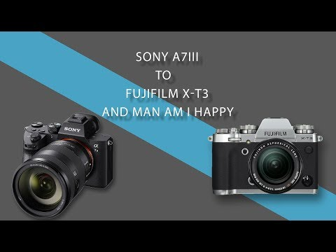 Sony A7lll to Fujifilm X-T3 and Man am I Happy