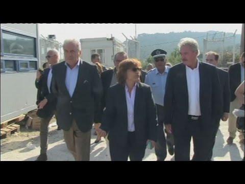 Επίσκεψη Δ. Αβραμόπουλου και Ζ. 'Ασελμπορν στη Λέσβο