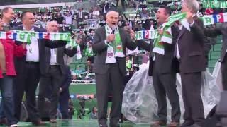 Alfred Körner singt die alte Rapid-Hymne im neuen Allianz Stadion