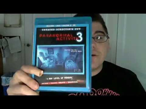 Paranormal Activity 3 Blu-Ray/DVD/Digital Copy Combo Pack Unboxing