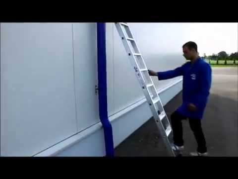 GÜNZBURGER Aluminium-Anlegeleiter, Stufenleiter, nivello, Handhabung