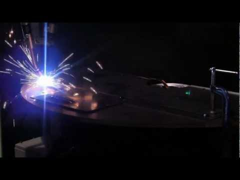 Motoman Industrial Robot Welding Demonstration