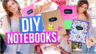DIY Notebooks for Back to School! | Tara Michelle - YouTube