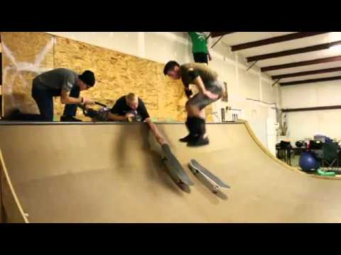 Mini Halfpipe Backflip Skateboard Trick