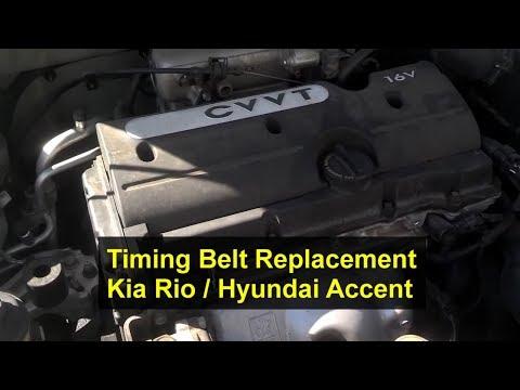 Kia Rio Timing Belt Replacement, 1.6L, I4, 16 Valve – Auto Repair Series