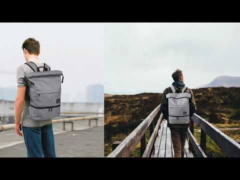Lifeasy Waterproof Anti-Theft Wet Separation Roll Top Laptop Bag Introduction Video