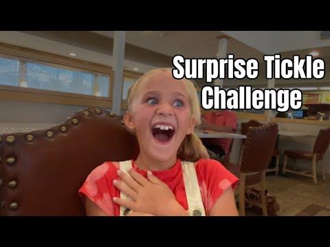 Tickle Challenge - Surprise Unexpected Places!!