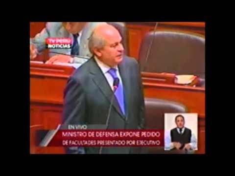 Ministro de Defensa Peruano Ante El Congreso: Agencia de Compras