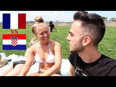 American Girls on who will win WORLD CUP 2018 | France vs Croatia final predictions