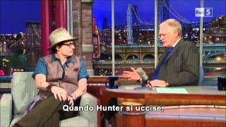 Johnny Depp On David Letterman (27.10.2011) Sub ITA {PART.2}