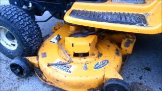 1. [Loxley Farmlet] How to fit the cutting deck on a Cub Cadet LT1042
