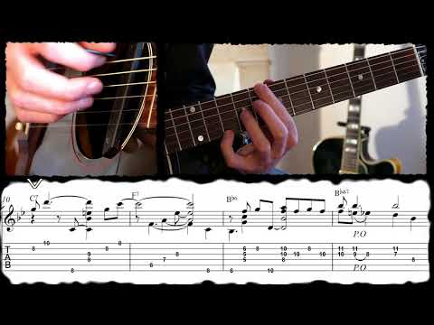 AFTER YOU'VE GONE (Turner Layton) /Ben-T-Zik guitar cover#16 (VIDEO with TAB)