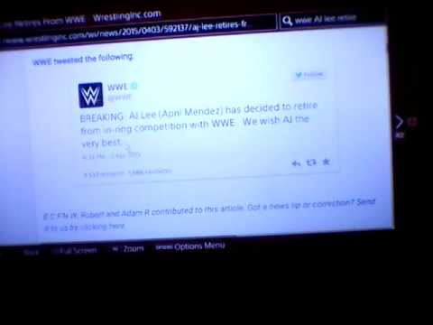 WWE Aj Lee Retires From The WWE Breaking News!!!