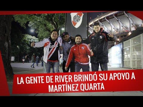 River vs Aldosivi: La gente de River brindó su apoyo a Martínez Quarta - Video Previa - Los Borrachos del Tablón - River Plate
