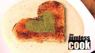 Valentines Day Green Tea Dessert - Matcha Toast Recipe