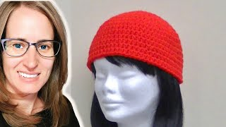 Half Double Crochet Hat Tutorial