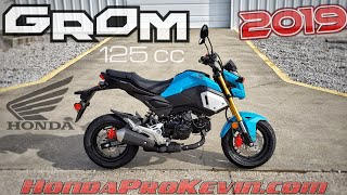 2. 2019 Honda Grom 125 Walk-around 'Blue Raspberry' | Mini Bike / Motorcycle (miniMOTO / MSX125)