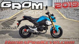 4. 2019 Honda Grom 125 Walk-around 'Blue Raspberry' | Mini Bike / Motorcycle (miniMOTO / MSX125)